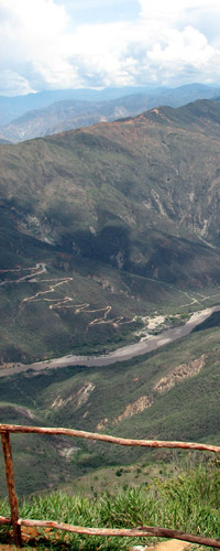 tourism chicamocha canyon santander colombia